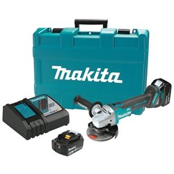 Makita XAG03MB LXT 18V 4.0 Ah Cordless Lithium-Ion Brushless 4-1/2 in. Cut-Off/Angle Grinder Kit