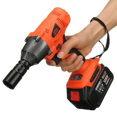128V Cordless Electric Impact Wrench 320NM 12800mAh High Torque Drill Tool US