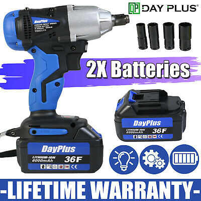 """36VF 6000mAh 1/2"""" Electric Cordless Impact Wrench Drill Socket With LED Light"""