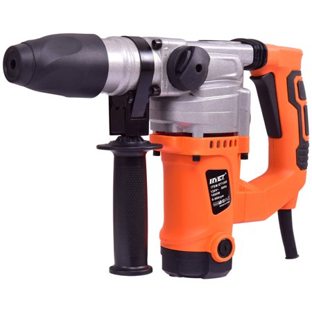 """Goplus Electric Rotary Hammer Drill 1"""" SDS Three Function Combo 1000W w/Chisel Kit"""