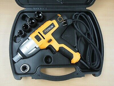 """Hoteche 1/2"""" Dr. Electric Impact Wrench Sockets Variable Speed Carry Case"""