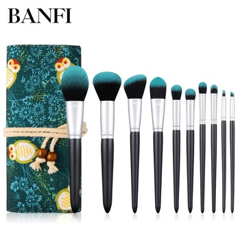10PCs Makeup Brushes Set Professional Cosmetic Makeup Brushes Tools Women Beauty Power Eyeshadow Lip Consealer Make Up Brushes