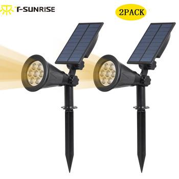 2PACK Solar Powered Spotlight Outdoor Lighting 2-in-1 Adjustable LED Solar Landscape Lamp Light for Outdoor Garden Patio Yard
