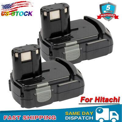 2X Battery for HITACHI 18V Li-ion EBM1830 BCL1815 BCL1820 BCL1830 BCL1840 WR18DL