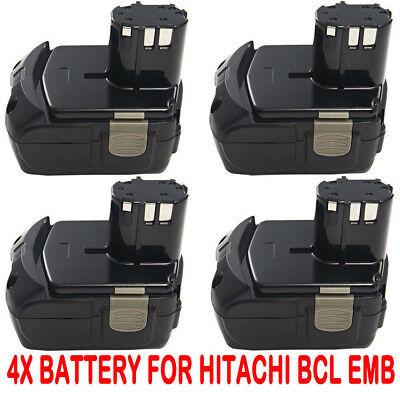 4x 18V 4.0Ah Li-ion Battery For Hitachi EBM1830 UB18DL WR18DL Lithium-ion drill