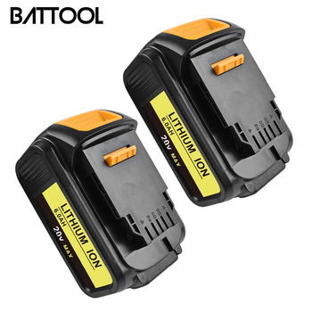 BATTOOL 6000mAh 20V 2pack for Dewalt Power Tool Battery for DCB182 DCB 200 DCB180 DCB181 DCB201-2 DCB200 DCB200-2 DCB204-2
