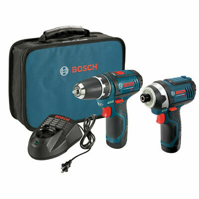 Bosch 12V Max Li-Ion 2-Tool Combo Kit CLPK22120 CLPK22-120 New