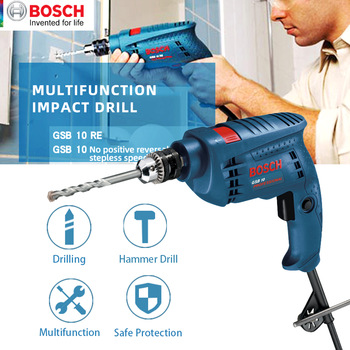 Bosch Electric drill Home use Power Tools GSB10/GSB10RE High Power Impact Drill Multi-Function Electrical Hand Drill machine