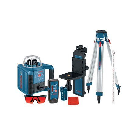 Bosch GRL300HVCK Self-Leveling Rotary Laser with Layout Beam Complete Kit