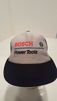 BOSCH Power Tools SnapBack Work Hat Cap Mesh Trucker Mens Womens