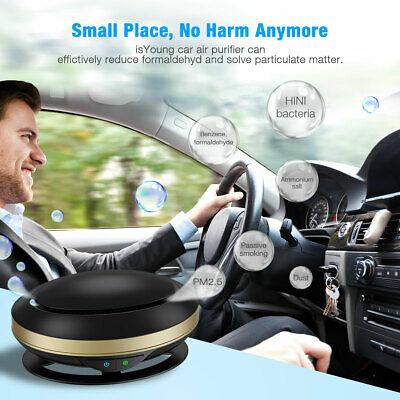 Car Fresh Air Purifier Ionic HEPA Filter Smoke Odor Ionizer Cleaner Freshener