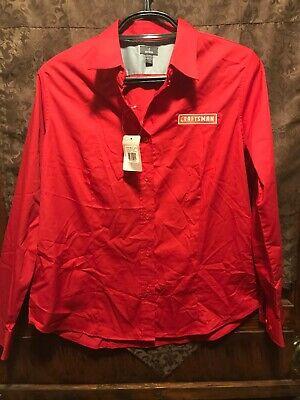 CRAFTSMAN POWER TOOLS ~ Women's XL ~ NWT Uniform Button Up Long SLV Shirt SEARS