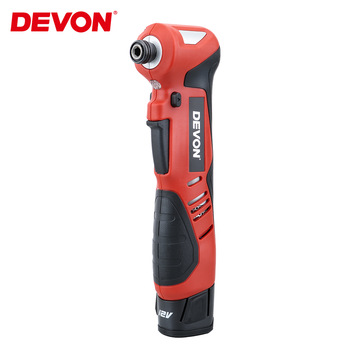 "DEVON 1/4"" Electric Ratchet Wrench Impact Screwdriver Cordless Scaffolding 80NM 12V Rechargeable Angle Impact Power Tools Drill"