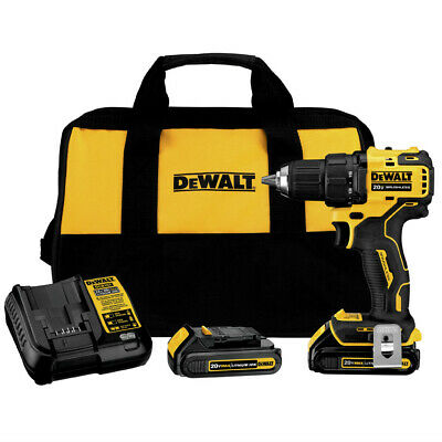 DeWALT DCD708C2 ATOMIC 20V MAX 1/2 in. Brushless Drill Driver Kit New