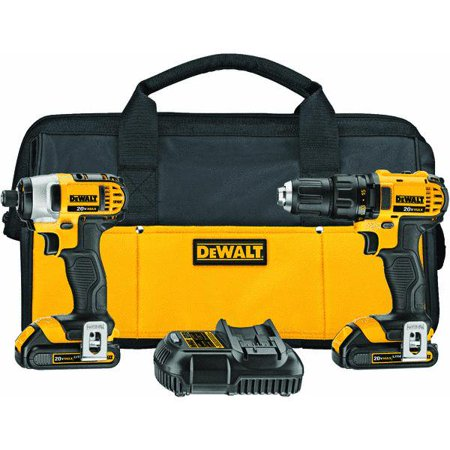 Dewalt DCK280C2 20V MAX Lithium Ion Compact Drill/Driver/Impact Driver Combo Kit