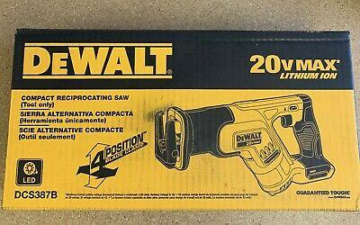 DeWALT DCS387B 20V Max* Cordless Compact Reciprocating Saw (Tool Only)