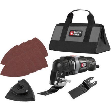 Factory-Reconditioned Porter-Cable PCE606KR 3.0 Amp Oscillating Multi-Tool Kit with 11 Accessories(Refurbished)