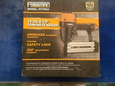 Freeman Pneumatic Nail Gun Concrete T-Nailer 14-Gauge Trigger Adjustable Exhaust