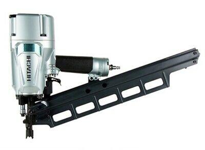 "Hitachi NR83A5 3-1/4"" Plastic Collated 21deg Pneumatic Framing Nailer with Depth"