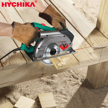 HYCHIKA Electric Circular Saw 1500W Power Tools 2 PCS Saw Blades 24/60T Blade for Wood Circular Saw Woodworking Tools Wood
