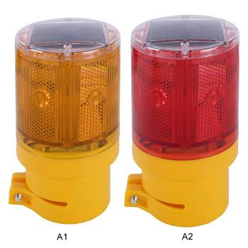 LED Solar Powered Emergency Strobe Warning Light Wireless Garden Lamp Road Flashing Traffic Lights Flicker Beacon Lamps MD-101