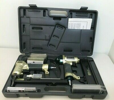 Master Pneumatic Finish Nail Gun Kit w/ 2 Nail Guns