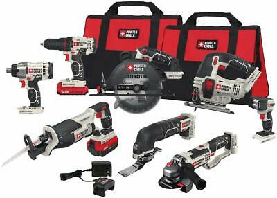 Porter-Cable 20V MAX Li-Ion 8-Tool Combo Kit PCCK619L8 New