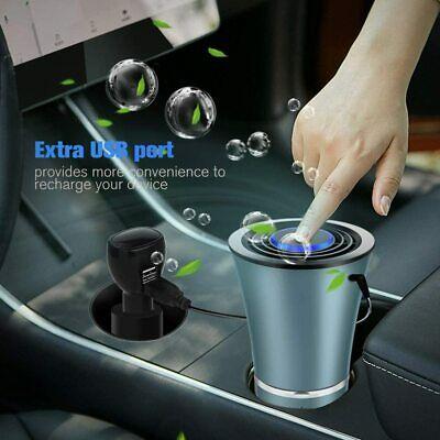 USB Air Freshener Car Purifier Home Car Deodorizer HEPA Filter Cleaner Ionic US