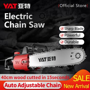 YAT Electric Saw 220V 1400W Powerful Chain Saw for Woodworking Household DIY Chainsaw Wood Cutting Saw