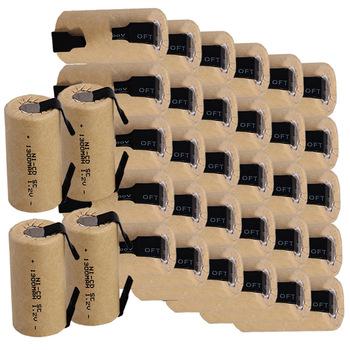 YECKPOWO 34 pcs SC rechargeable battery power tool SUBC batterie NICD accumulator 1300mah 1.2v for Dewalt Bosch hitachi B&D